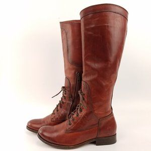 Frye Melissa Lace Up Riding Boots 6.5 EN62
